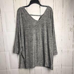 Lane Bryant Grey Dress Shirt
